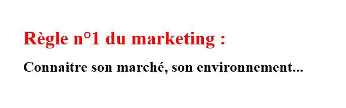 regle 1 du marketing
